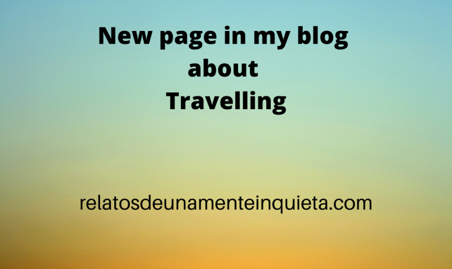 New page in my blog